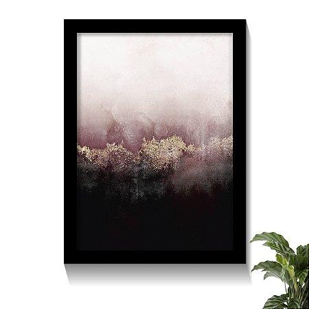 Quadro Abstrato Céu Rosa