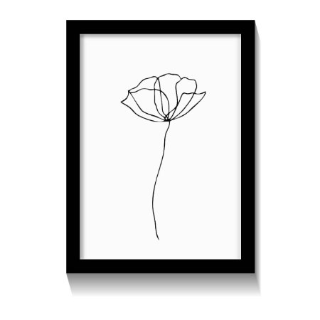 Quadro Flor Minimalista