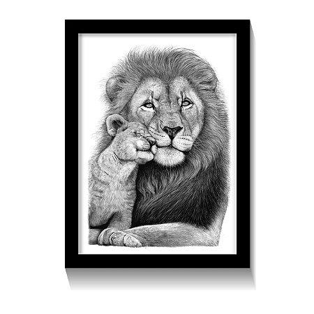 Quadro Lion Father Love