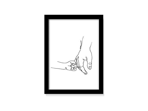 Quadro Decorativo Mãos Dadas Com o Pai