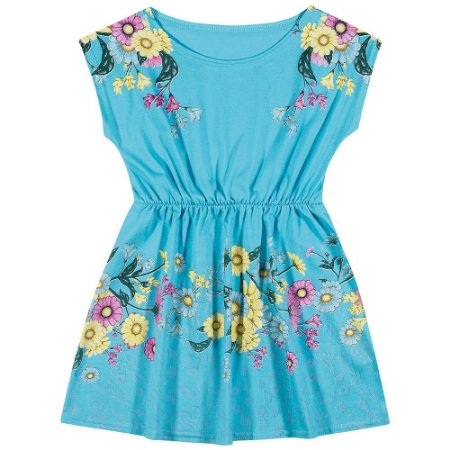 vestido elian azul floral 10 anos só para crianças moda infantil