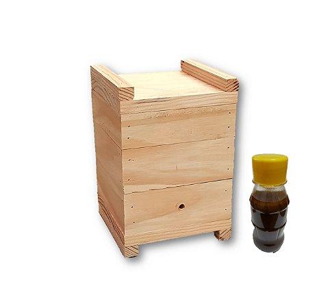 Caixa Inpa para abelha Jatai + Loção Atrativo ASF