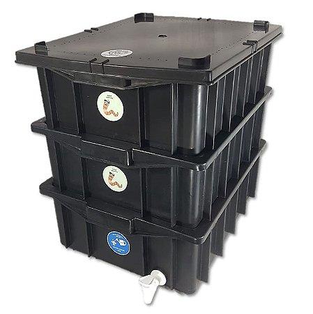 Composteira Doméstica Minhocário - 15 L (1-2 Pessoas)