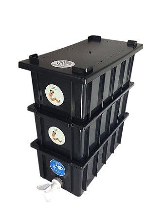 Mini Composteira Doméstica Minhocário - 4 Litros (1 Pessoa)