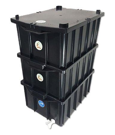 Composteira Doméstica Minhocário - 26 Litros (1-3 Pessoas)