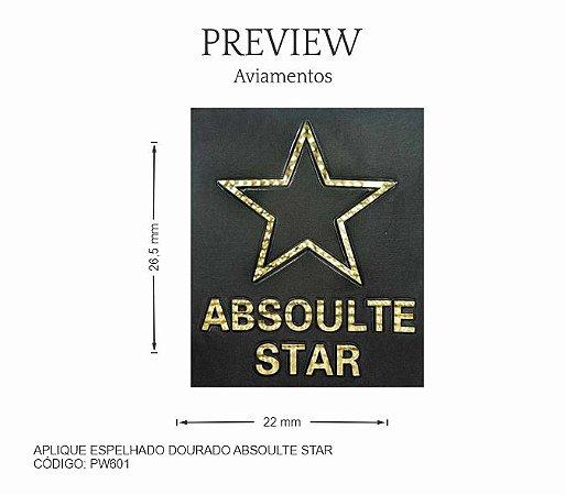 APLIQUE PARA COSTURA ABSOULTE STAR / MÍNIMO 5U / LARG. APROX.: 220mmx265mm