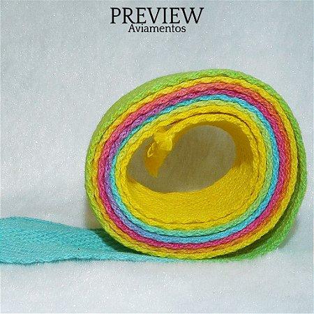 Cadarço Tie Dye P7094/25 /  PCT C/ 13,70m - 15MM Comp. 100% Algodão