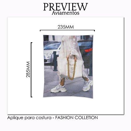 Aplique para costura FASHION COLLECTION - Pct c/ 5 pc - 235x285MM - 100% Poliéster
