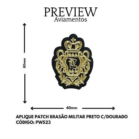 PATCHWORK BRASSAO MILITAR LARG APROX.80MMX60MM