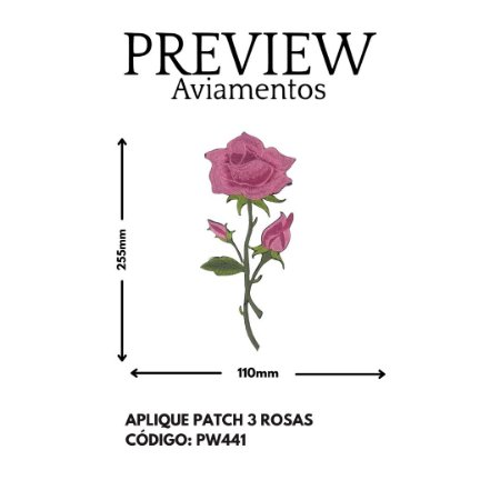 PATCH TERMOCOLANTE 3 ROSA LARG APROX: 255MMX110MM