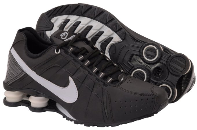 49f206bf9e27 ... reduced tênis nike shox junior. masculino preto branco 653ef 23cb9 ...
