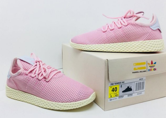 Tênis Feminino Adidas Pharrell Williams HU - Rosa e Branco - Allure ... f44be9c9dd869