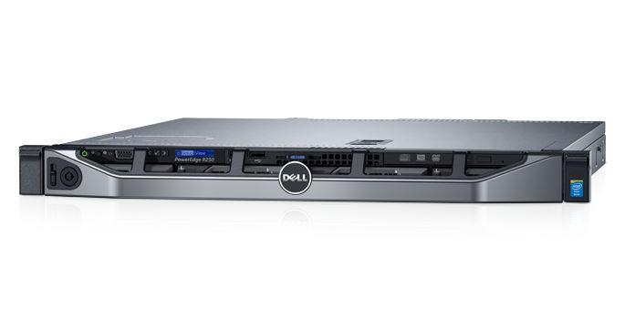 SERVIDOR RACK POWEREDGE R230 INTEL XEON E3-1220v6 3.0GHZ 4C (1X PROC.) 8GB RAM, DVD, 1X FONTE 250W, SEM SISTEMA OPERACIONAL - DELL