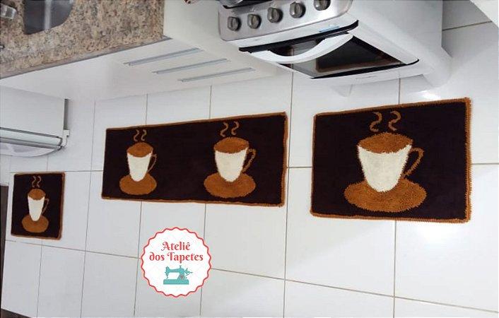 Jogo De Cozinha Modelo Xícara Kit Com 3 Peças