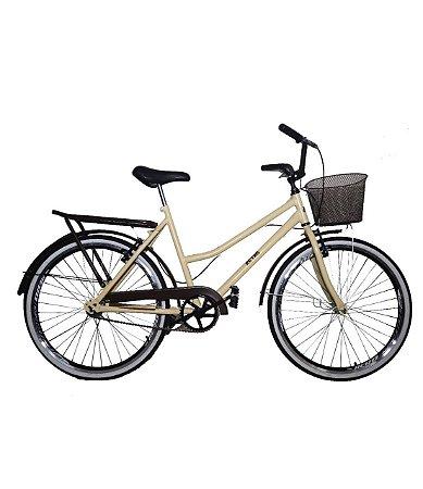 Bicicleta aro 26 Retro classic new bike - Bege 18 MARCHAS
