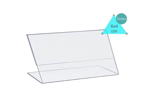 Porta Preço e Etiqueta 6X4 cm - unitário