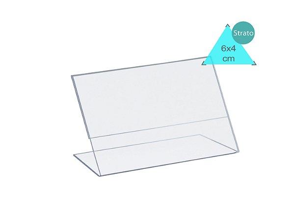 Display Porta preços 6x4 cm horizontal - 50 unidades