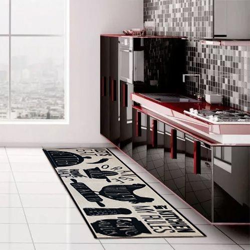 Passadeira Cozinha Antiderrapante 160x50 Eat Kapazi