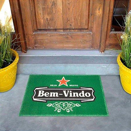 Tapete Capacho Entrada Apto Casa Beer Bem Vindo Kapazi