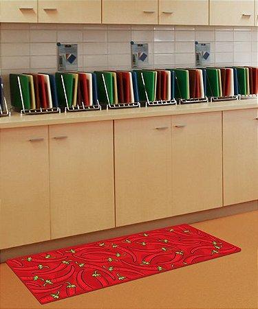 PASSADEIRA Cozinha Antiderrapante 120X50 Pimentas