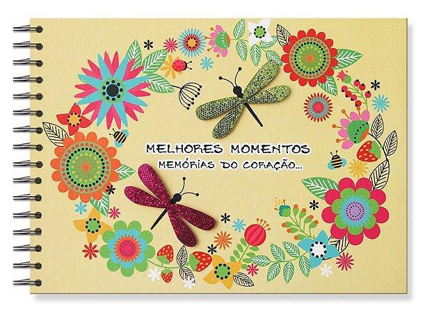álbum De Recordações Felicidade Libélula