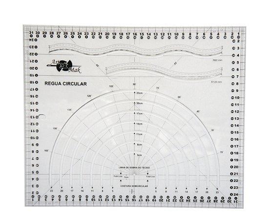 Régua Circular para Patchwork e Scrapbook