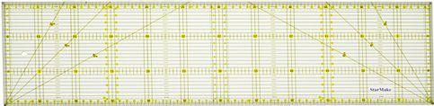 Régua 15X60 para Patchwork Amarela