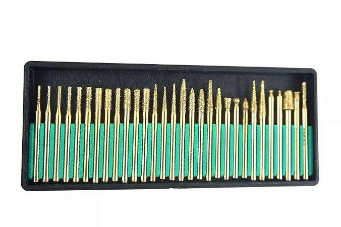 Lima Rotativa Diamantada Vários Modelos 3mm 30 pçs