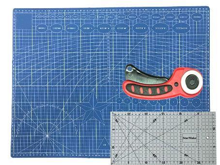 Base de Corte 60x45 + Régua 15x30 + Cortador de 45