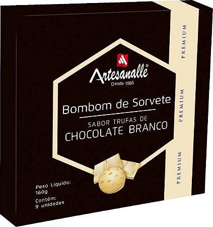 Bombom de Sorvete sabor Trufas de Chocolate Branco