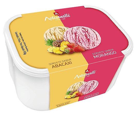 Sorvete sabores  Abacaxi e Morango