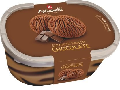 Sorvete sabor Chocolate