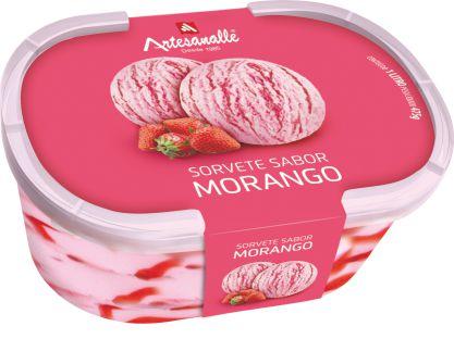 Sorvete sabor Morango