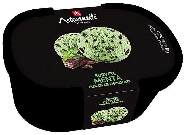 Sorvete Menta - Flocos de Chocolate