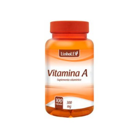 """Vitamina """"A"""" 300mg 100 Cápsulas - LinhoLEV"""