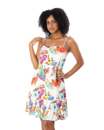 Vestido Trapézio De Alcinha Luxury