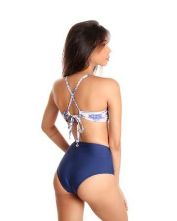 Calcinha Ocean Hot Pants Azul Marinho