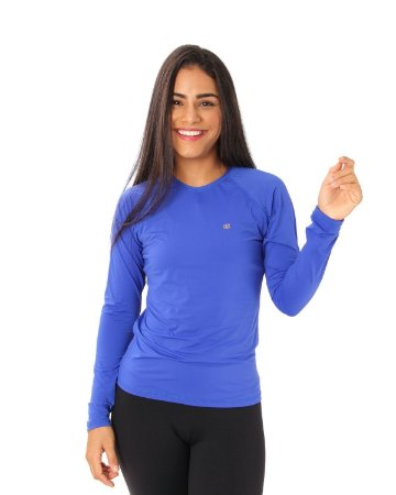 Camisa UV Ocean Feminina Azul Royal
