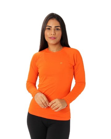 Camisa UV Ocean Feminina Laranja