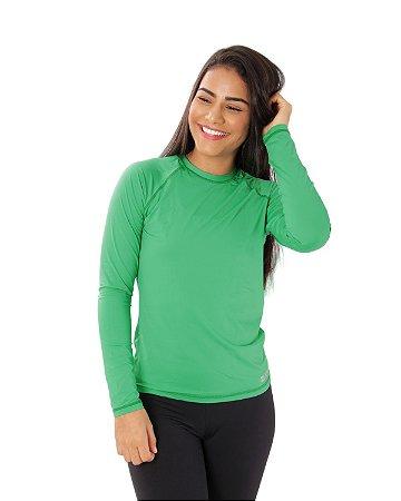 Camisa UV Ocean Feminina Verde Bandeira