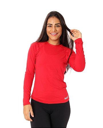 Camisa UV Ocean Feminina Vermelha
