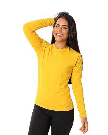 Camisa UV Ocean Feminina Amarelo Mostarda