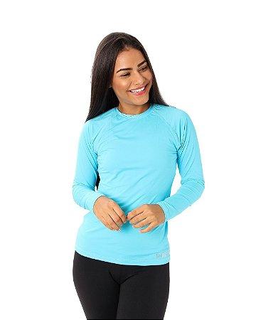 Camisa UV Ocean Feminina Azul Claro