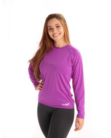 Camisa Life Proteção Uv Feminina Roxa