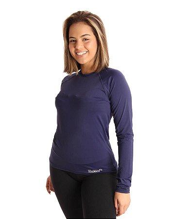 Camisa Life Proteção UV Feminina Azul Marinho