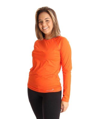 Camisa Life Proteção UV Feminina Laranja