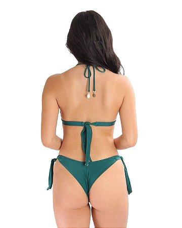 Calcinha Laços Meio Fio Verde Musgo