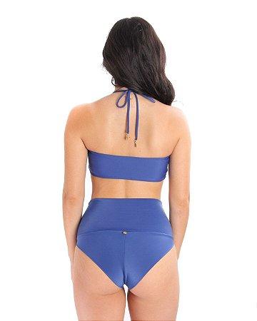 Hot Pants Meio Fio Azul Carbon