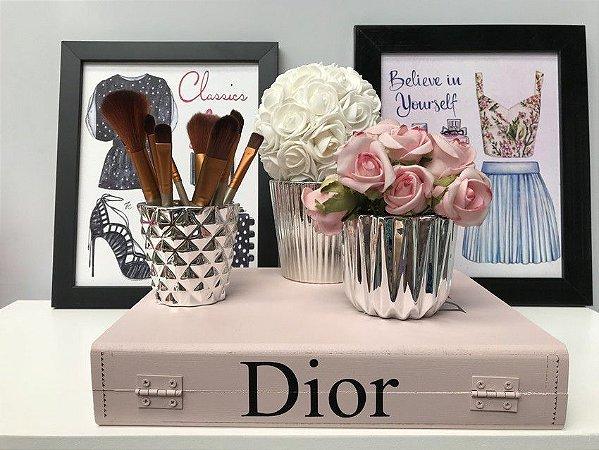 Livro Decorativo Dior RosaBlush