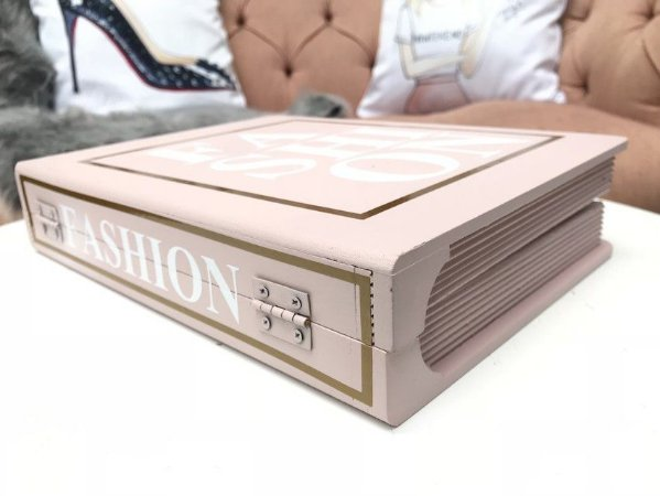 Livro Decorativo Fashion Rosa Blush
